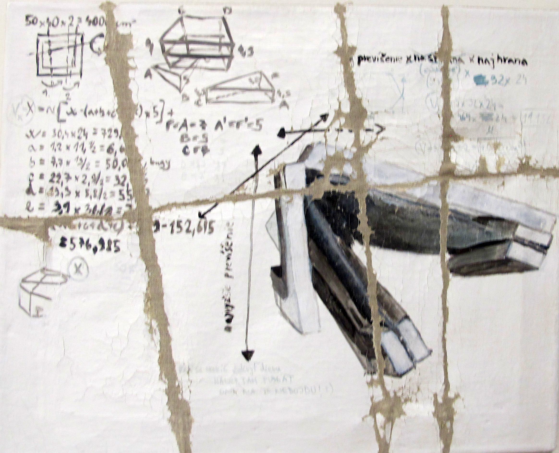 Eva Škrovinová, Křídový šeps, akryl, plátno, blind rámy, 8x ()